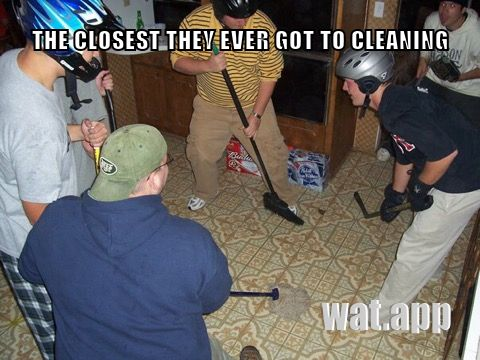 THE CLOSEST THEY EVER GOT TO CLEANING